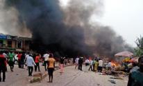 فقدان 50 شخصا بانفجار خط أنابيب للنفط وتدافع بنيجيريا