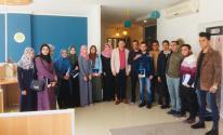 طلاب الإعلام بجامعة الإسراء ينظمون زيارة لمكتب قناة الغد في غزّة