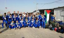 بعثة فريق شباب الخليل تصل غزة عبر حاجز بيت حانون