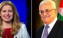 محمود عباس ورئيسة لجمهورية سلوفاكيا