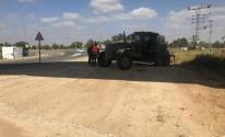 بالصور: الاحتلال يبدأ بإقامة جدار خرساني على حدود غزّة الشرقية