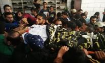 بالصور: تشييع جثامين شهيدين ارتقوا بقصف الاحتلال وسط القطاع