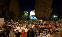 أكثر من 60 ألف مصلٍ يُصلون العشاء والتراويح بالمسجد الأقصى