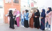 صور: الشبيبة الفتحاوية تستقبل طلبة الثانوية العامة في مدارس قطاع غزة