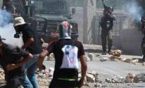 مواجهات بين الفلسطينيين وجنود الاحتلال