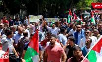 شاهد بالفيديو والصور: مسيرات شعبية في غزّة رفضاً لورشة البحرين وصفقة القرن