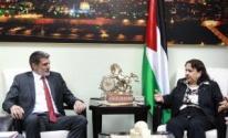 وزيرة الصحة تلتقيرئيس بعثة اللجنة الدولية للصليب الأحمر في القدس