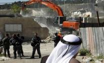 آليات الاحتلال تهدم منازل المواطنين