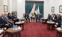 الرئيس عباس يستقبل وفد المخابرات المصري برام الله