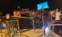 بالفيديو والصور: مصرع 3 مواطنين وإصابة آخرين في حادث مروري مفجع غرب مدينة غزة