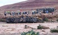 مصرع 17 مغربي إثر انقلاب حافلة ركاب بفعل الفيضانات