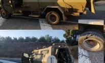 بالفيديو والصور: الاحتلال يزعم عدم إصابة مركبة