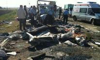 مقتل 6 أشخاص وإصابة 27 آخرين إثر انقلاب شاحنة تقل مهاجرين جنوبي تركيا