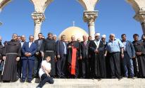 عميد مجمع الكنائس الشرقية في الفاتيكان يزور المسجد الأقصى