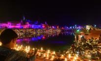 بالصور: المصابيح الزيتية تسجل مدينة