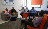 أطر صحفية تلتقي رئيس المجلس الإداري لنقابة الصحفيين في غزّة