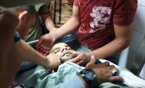 بالصور: شهيدان وإصابة آخر جراء قصف إسرائيلي شرق خانيونس