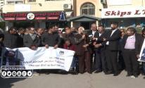 شاهد بالفيديو: نقابة الصحفيين تُنظم وقفة تضامنية مع الزميل معاذ عمارنة برام الله