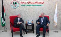 اشتية يزور الجامعة العربية الأمريكية في جنين