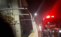بالصور: إصابة سيدة بالاختناق إثر حريق نشب في منزلها جنوب جنين