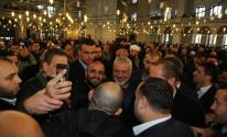 هنية يؤدي صلاة الجمعة بمسجد الفاتح في اسطنبول.jpg