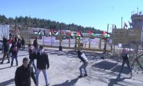 شاهد: عدسة وكالة خبر تُوثق مواجهات المواطنين مع قوات الاحتلال قرب سجن عوفر