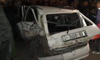 بالصور: وقوع حادث سير في شارع الجلاء وسط مدينة غزة