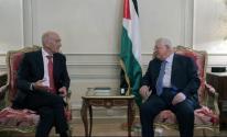 اولمرت والرئيس عباس