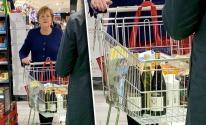 شاهددوا: ميركل تتسوق بمفردها في