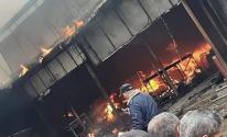 ارتفاع ضحايا حريق مخيم النصيرات وسط قطاع غزة إلى 13 شهيداً