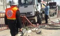 إصابة مواطن في حادث سير وسط قطاع غزة