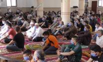 صلاة الجمعة الأولى من شهر رمضان في غزة
