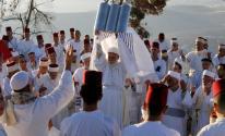 الطائفة السامرية تحتفل بعيد الفسح فوق قمة جبل جرزيم بمدينة نابلس