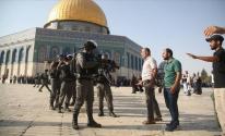 اقتحام المسجد الاقصى.