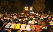 صلاة الفجر في المسجد الاقصى
