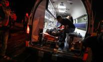 إسعاف في غزة ليلاً