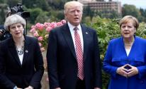 ترامب وميركل وماي