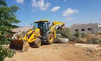 الاحتلال يقتلع عشرات أشجار الزيتون في قرية بردلة بالأغوار الشمالية.jpg