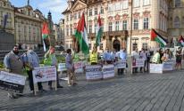 وقفة في التشيك مندذدة بخطة الضم الإسرائيلية