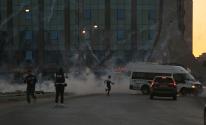 اندلاع المواجهات مع قوات الاحتلال قرب مدخل البيرة