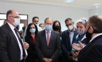 أثناء استقبال القنصل الفرنسي بوزارة الاقتصاد برام الله