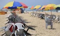 استراحات على شاطئ بحر غزة