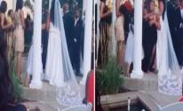 بالفيديو: أمريكية تقتحم حفل زفاف