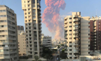 بالفيديو والصور: إصابات إثرانفجار كبيرفي العاصمة اللبنانية بيروت