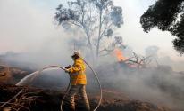 حريق غلاف غزة