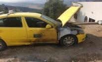 المستوطنون يعتدون على سيارات المواطنين غرب نابلس