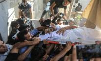 تشييع جثماني صيادين شقيقين وسط قطاع غزة