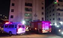 شاهد بالفيديو: 6 إصابات بانفجار داخل شقة سكنية في رام الله