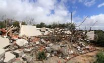 الاحتلال يخطر بوقف البناء في منزل قيد الإنشاء ويهدم غرفة زراعية في بيت لحم