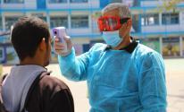 فحص فيروس كورونا في غزة